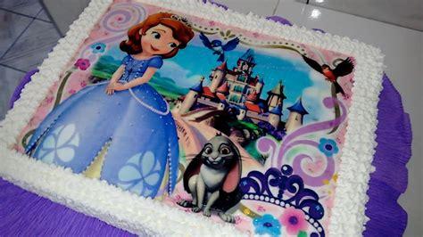 imgenes de tortas princesa sofa bolo decorado princesa sofia youtube