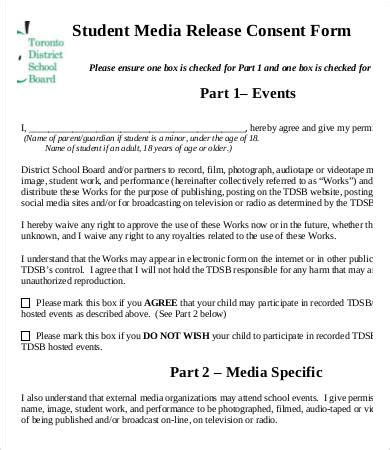 Media Release Form Template 8 Free Sle Exle Format Free Premium Templates Media Release Form Template