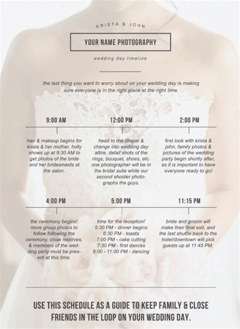 wedding day schedule template wedding schedule images wedding dress decoration and