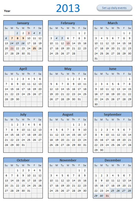 free 2013 calendar download and print year 2013 calendar
