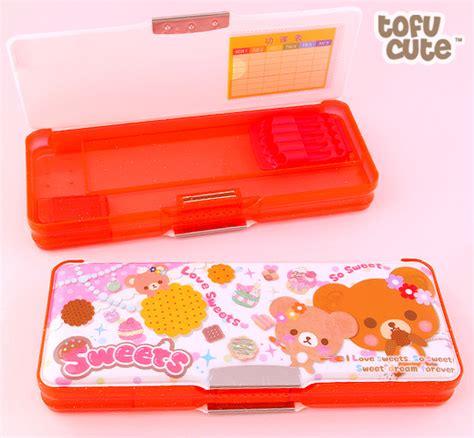 three section pencil case buy kawaii multi section pencil box sweet bears at tofu cute