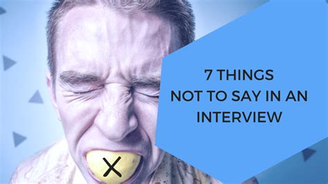 7 Things Not To Say At Our Next by 7 Things Not To Say In An Market Recruitment