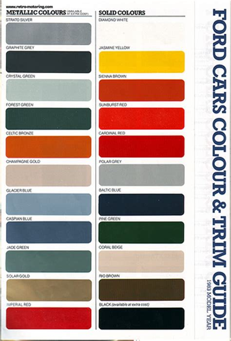 ford paint colours october november 1982 flickr photo