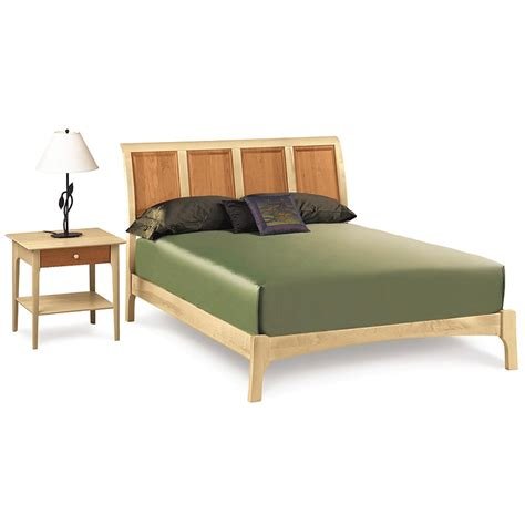 Sleigh Bed Low Footboard by Cherry Maple Wood Sleigh Bed Low Footboard Us