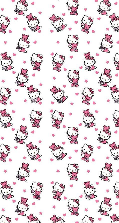 wallpaper hello kitty warna pink hellokitty hello kitty pink white wallpaper