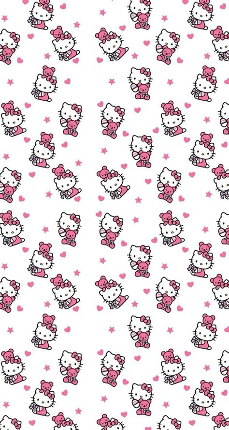 pin pin widescreen hello wallpaper kitty background hellokitty hello kitty pink white wallpaper