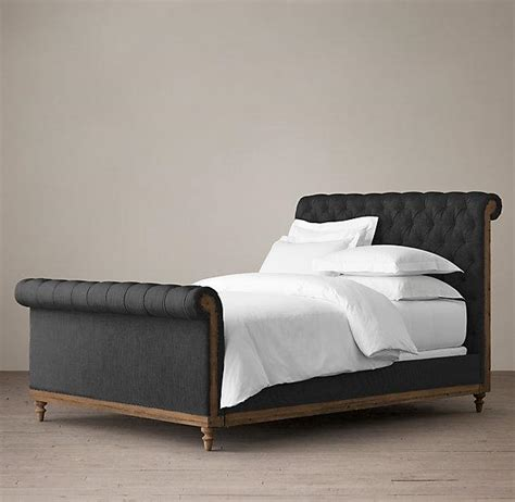 chesterfield bed deconstructed chesterfield black sleigh bed with footboard