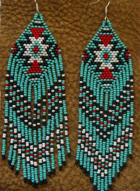 Beaded Fringe Earrings beaded fringe earrings american by