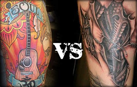 tattoo black and grey with colour color vs black and grey tattoos tattoo thrills