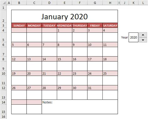 how to make a yearly calendar in excel 2010 calendar template in excel easy excel tutorial