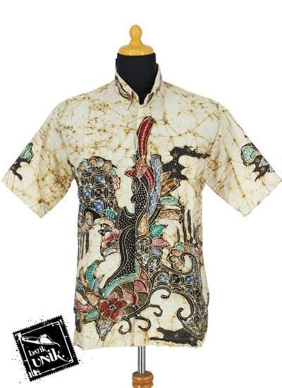 Kemeja Etnik Katun Lengan Panjang baju batik kemeja katun cap motif batik etnik warna ii batik pria exclusive murah batikunik