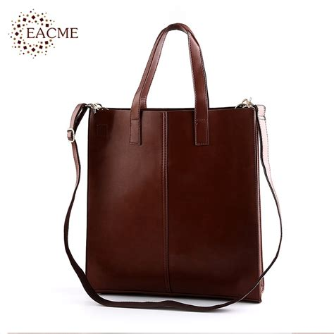 Tote Bag Pu Leather Import eacme casual shoulder tote bag handbag quality pu leather totes shopping bags
