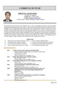 Qc Resume Format by Edwin Cv For Qa Qc Manager