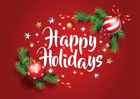happy holidays vector image  stockunlimited