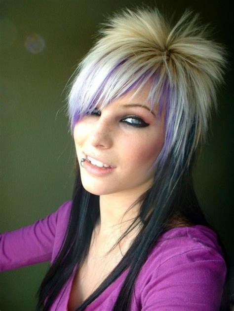 girl hairstyles purple pinkbizarre gothic hairstyles for girls