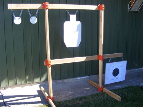 diy steel target stand tommygun pistol rack kit rifle shooting target ar500 gong stand hang steel diy ebay