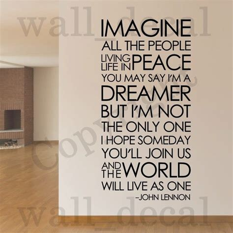 beatles wall stickers imagine lennon the beatles removable wall decal vinyl