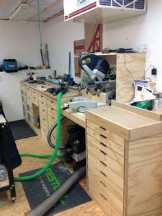 Building Cabinets With Festool by Bench With Precision Garage Track Chang E