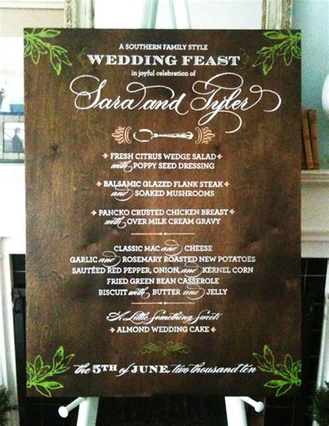 17 5x14 chalkboard menu rustic wedding sign chalk board 17 best images about organic wedding inspired on pinterest