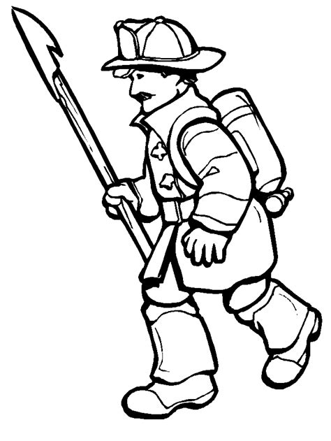 Firefighters Coloring Pages Coloring Home Fireman Coloring Pages