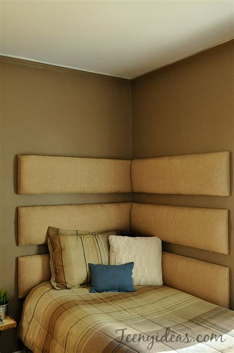diy corner headboard boy to man bedroom makeover teeny ideas