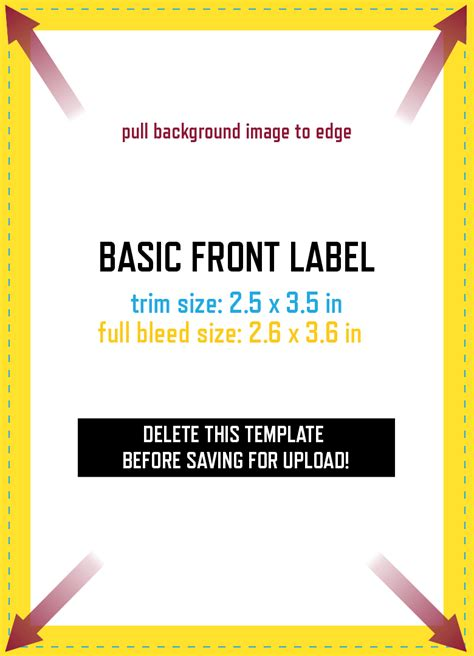 the basic label design template grogtag
