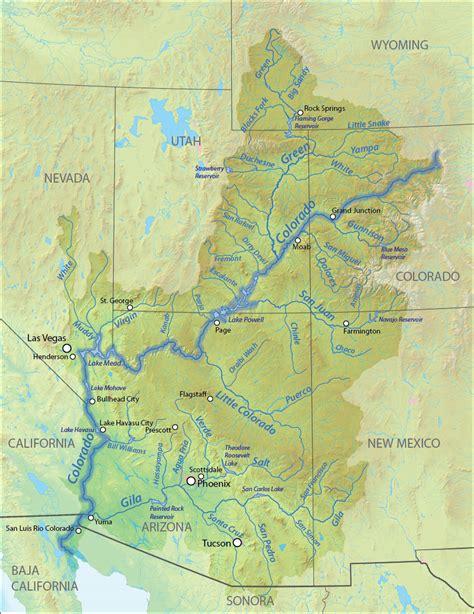 river map colorado river american rivers