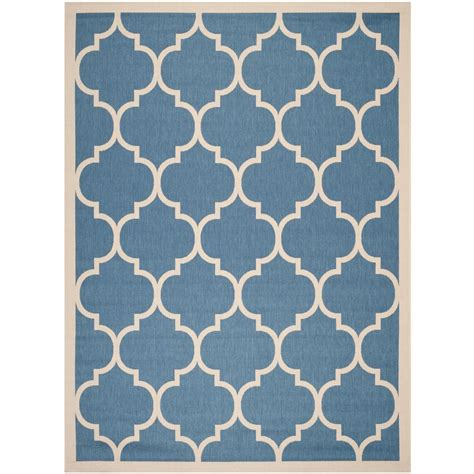 Area Rugs Blue And Beige Safavieh Courtyard Blue Beige 9 Ft X 12 Ft Indoor Outdoor Area Rug Cy6914 243 9 The Home Depot