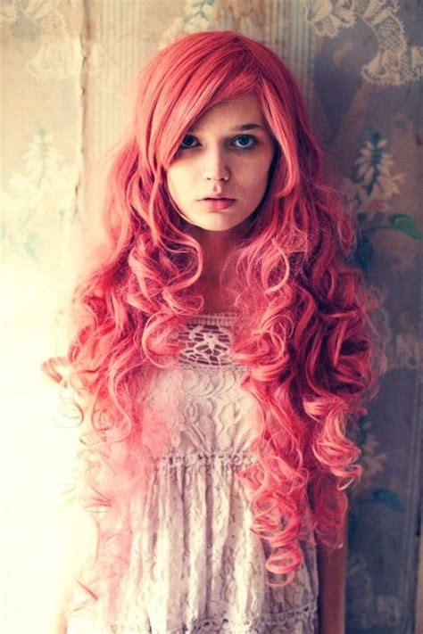 getting hair curled and color enchantingly pretty pink curls hair colors a hairdo