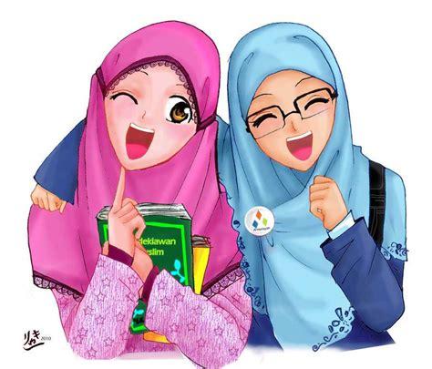 kartun wanita muslimah berhijab anggun dan cantik hijabnesia portal informasi seputar