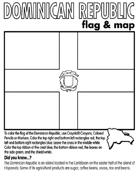 dominican republic flag coloring page dominican republic coloring page crayola com