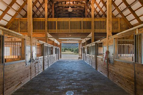 barn interior at t horse barn imus ranch for sale