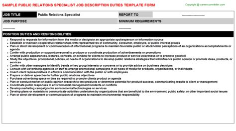 International Relations Specialist Cover Letter by International Relations Specialist Descriptions Sles