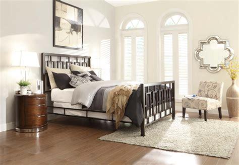 homelegance brushed brown metal bedroom collection