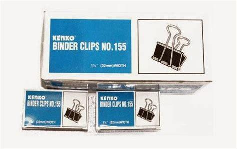 Binder Clil 155 jual binder kenko 155 klip jepitan penjepit kertas hitam an shop88