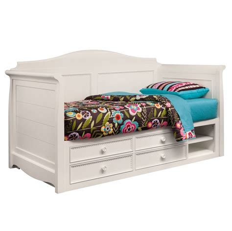 day bed with storage hannah white twin daybed with storage for eli pinterest