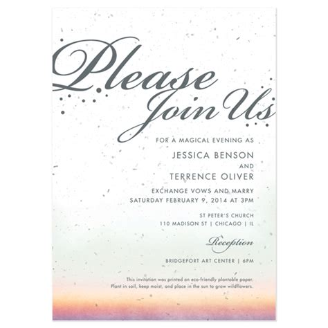 celebrate it wedding invitations celebrate plantable ombre wedding invitation plantable
