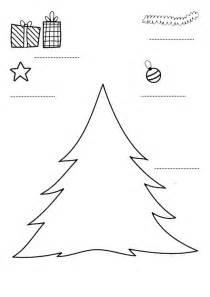 decorar el 225 rbol de navidad dibujo para imprimir y colorear
