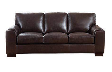 full leather couches suzanne full top grain dark brown leather sofa