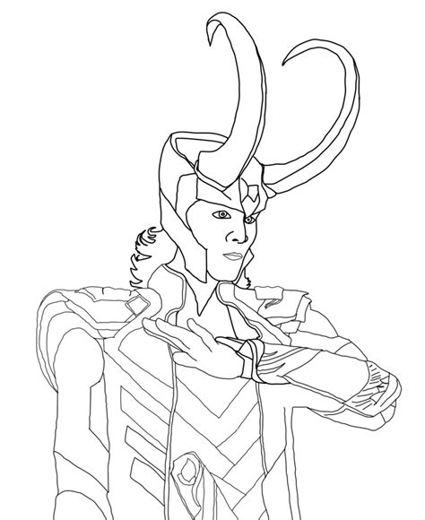 avengers coloring pages loki lokie free colouring pages