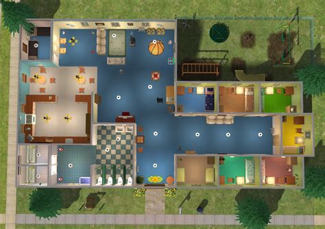 Large Kitchen Floor Plans mod the sims sunflower orphanage