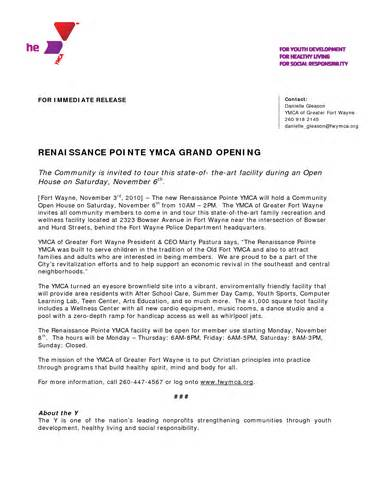 Grand Opening Press Release Template by 10 Best Images Of Grand Reopening Press Release Format