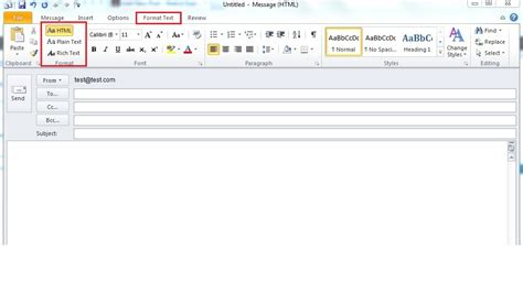 email format html or text ms office 2010 sebastian it escapades
