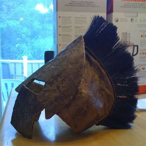 How To Make A Spartan Helmet Out Of Paper - cardboard warrior headgear diy spartan helmet