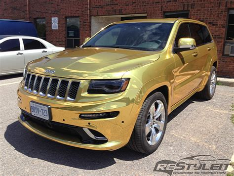 Jeep Srt8 2014 2014 Jeep Grand Srt8 Wrapped In Gold Chrome