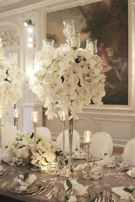 silver centerpieces for table silver candelabra table pinterest