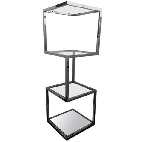 etagere 9 cases but mid century chrome etagere or display for sale at 1stdibs