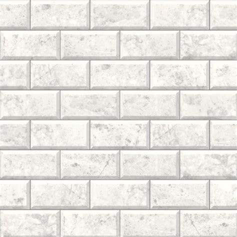New muriva virtual reality marble tile brick effect embossed vinyl wallpaper whi ebay