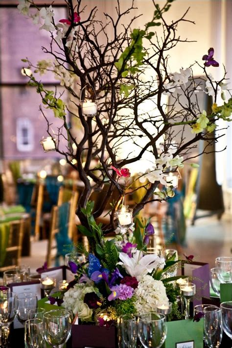 floral branches centerpiece colorful manzanita branches for centerpieces floral