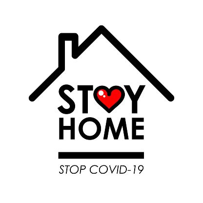 stay home logo   icon  house  heart